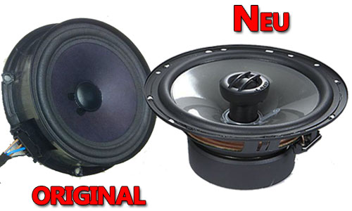Beispiel VW Lautsprecher Original oder Neu JL Audio