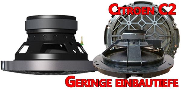 Citroen C2 original Lautsprecher geringe Einbautiefe