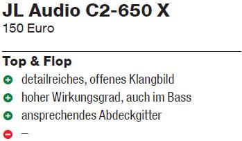 JL Audio C2 650x Bewertung Autohifi