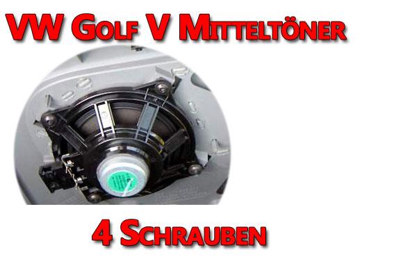 VW Golf V Mitteltöner Türe vorne ausbauen