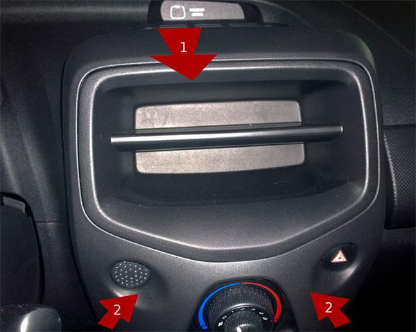 Citroen C1 Autoradio ausbauen ab Baujahr 2014