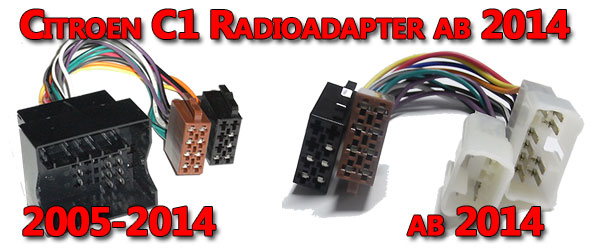 Citroen C1 Radioadapter ab 2014