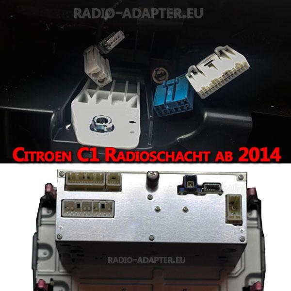 Citroen C1 Radioschacht ab 2014