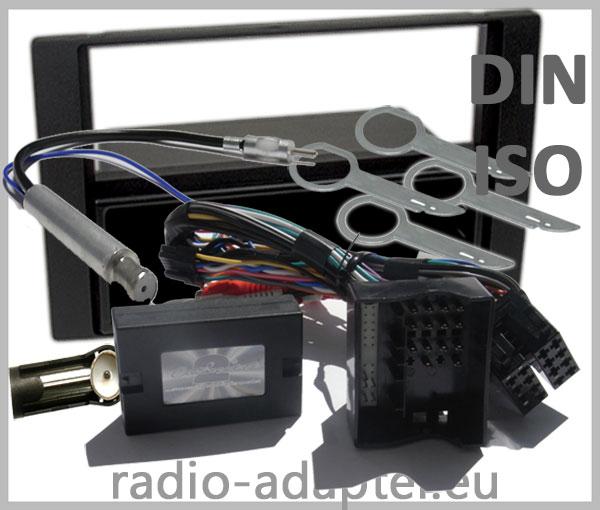 Ford C Max Lenkrad Adapter mit Autoradio Einbauset schwarz 1 DIN