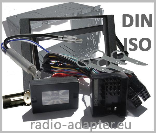 Ford Fiesta Lenkrad Adapter mit Doppel DIN Radioeinbauset