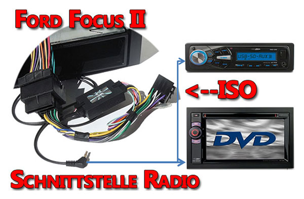 Ford Focus II Verbindungskabel Radio Lenkrad Adapter