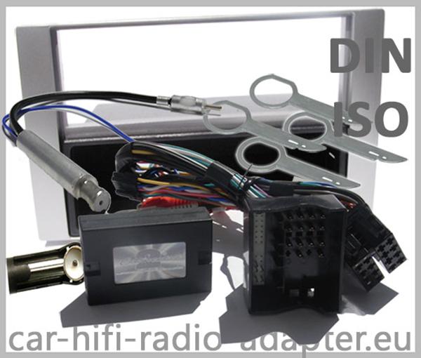 Ford Kuga Adapter für Lenkradfernbedienung mit Radioblenden Set Silber