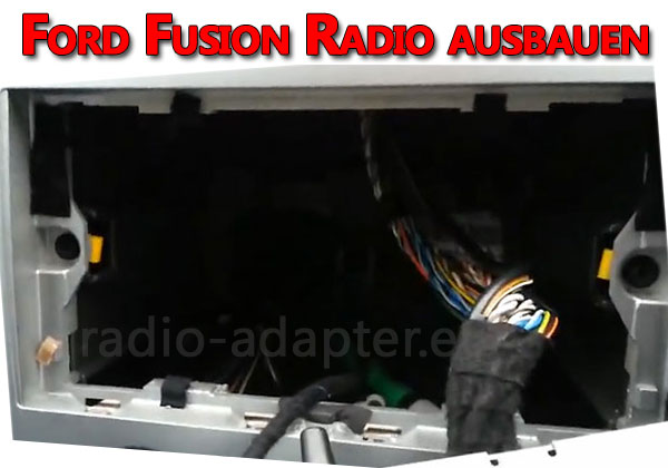 Ford-Fusion-Radio-ausbauen