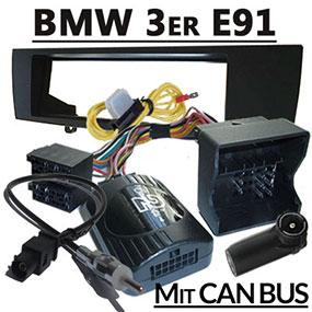 Adapter-Lenkradfernbedienung-1-DIN-Radioblende-BMW-3er-Touring-E91