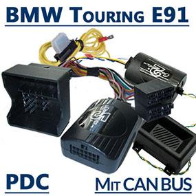 Adapter-Lenkradfernbedienung-PDC-und-Warnsignale.BMW-3er-Touring-E91