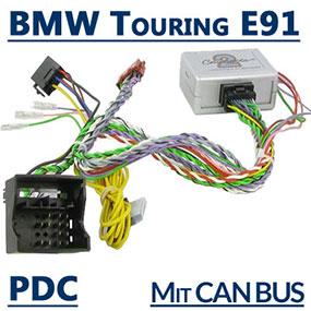 Adapter-für-Lenkradfernbedienung-und-PDC-Warnsignal-für-BMW-E91-Touring