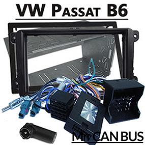VW-Passat-B6-Fremdradio-Einbauset-2-DIN-Adapter-für-Lenkradfernbedienung